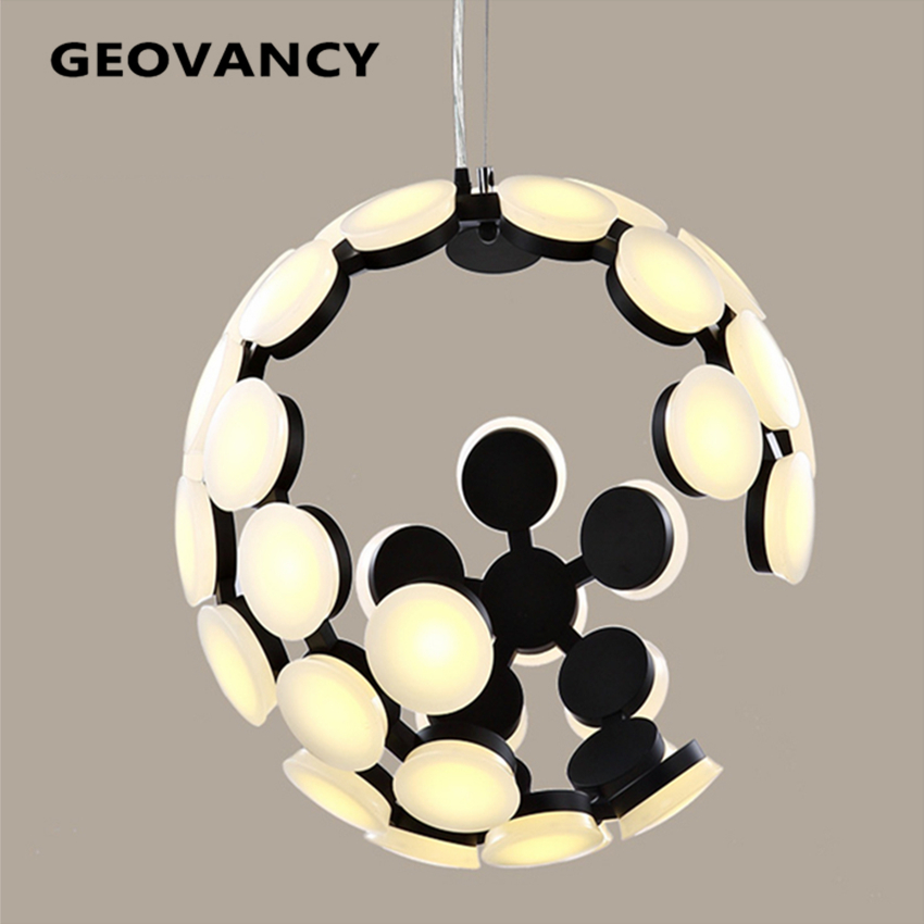 Contemporary modern moon pendant light for lobby