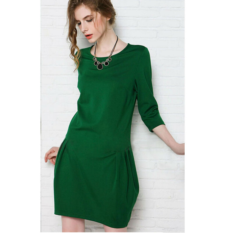 Simple black and green classical generous three quarter sleeves latest <strong>dresses</strong>,girl <strong>dress</strong>,<strong>dress</strong>