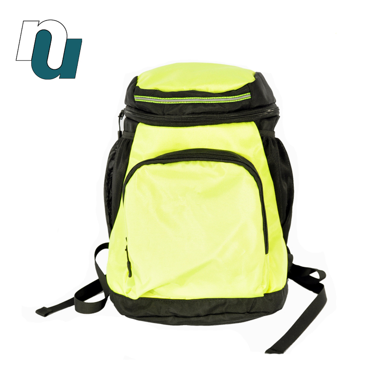 Factory Manufacturer ODM OEM Sharp Yellow Modern Simplicity Double Shoulder Backpack with Large Pocket for Student and Adult