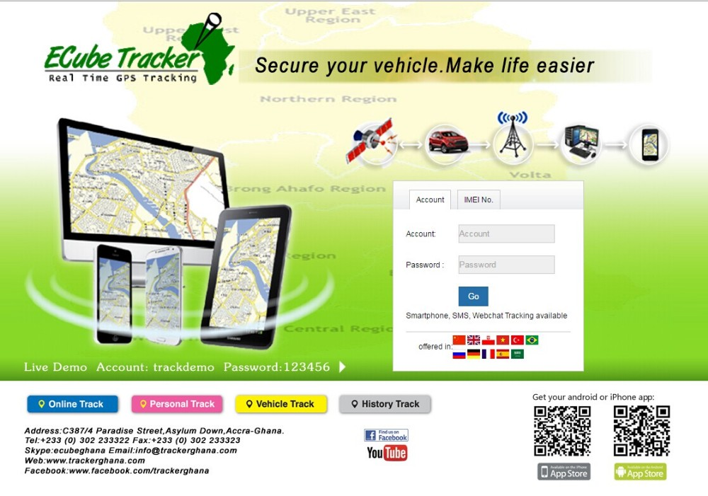 Free Web based GPS server tracking software