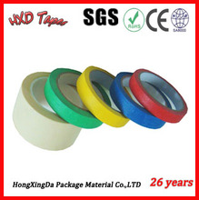 Cheapest hing adhesion colorful masking tape yellow color masking tape