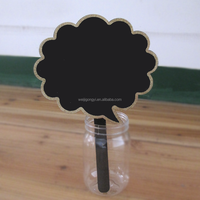MDF PLYWOOD POLISHED WOOD CHALKBOARD STICKS FOR GARDEN