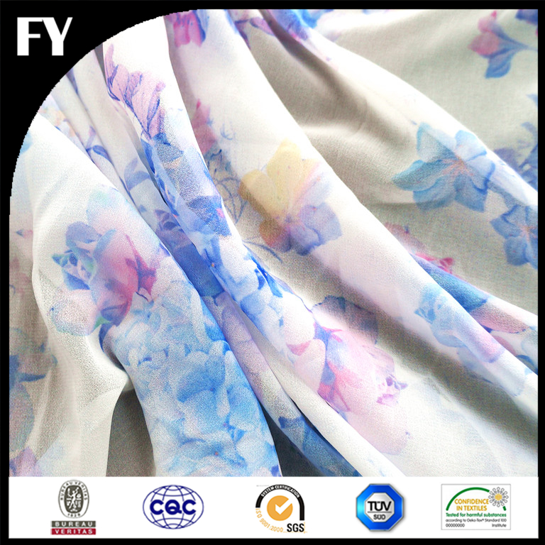 Your Own Design Print Bubble Chiffon Fabric 100% Polyester