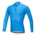 Custom Brand New 1/4 Zippered Long Sleeve Cycling Jerseys Quick-dry Men T-Shirts Bicycles Sports Tops Cycling Tops