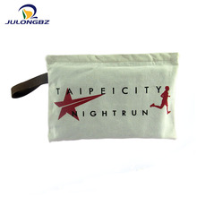 Wholesale Ecological canvas cosmetic bag,small canvas zipper makeup bag