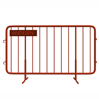 metal traffic safety temporary crowd barrier