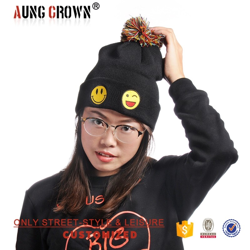 fashion style embroidered logo beanie