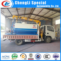 China factory sale small Multi fuctional cargo truck with crane and water sprinkler tank