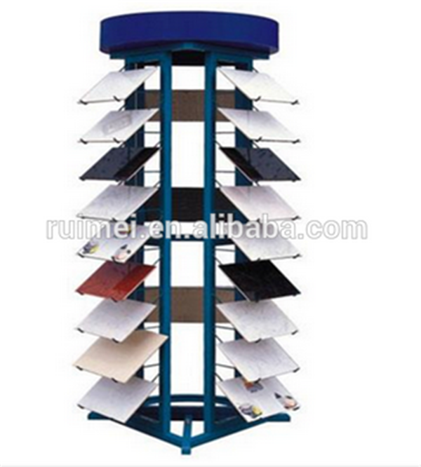 Multi-side Floor-standing Metal Display Stands For Tile Rack