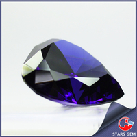 Loose Heart Shape Faceted Tanzanite CZ Stone