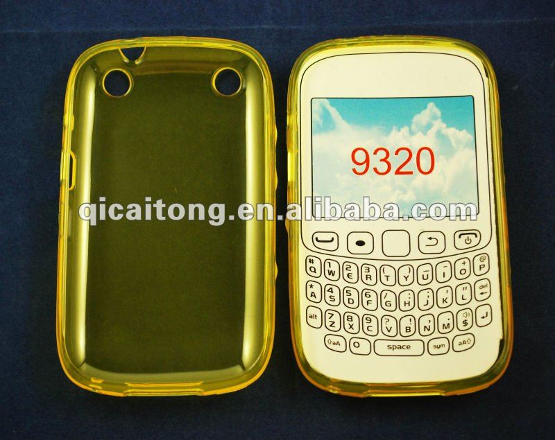 cellphone tpu case without texture for blackberry 9320/curve