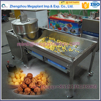 Megaplant stainless steel commercial gas operated football sweet popcorn making machine