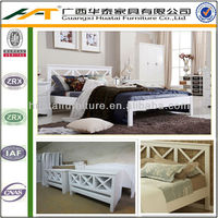 Full size wood bed frame Bedroom furniture