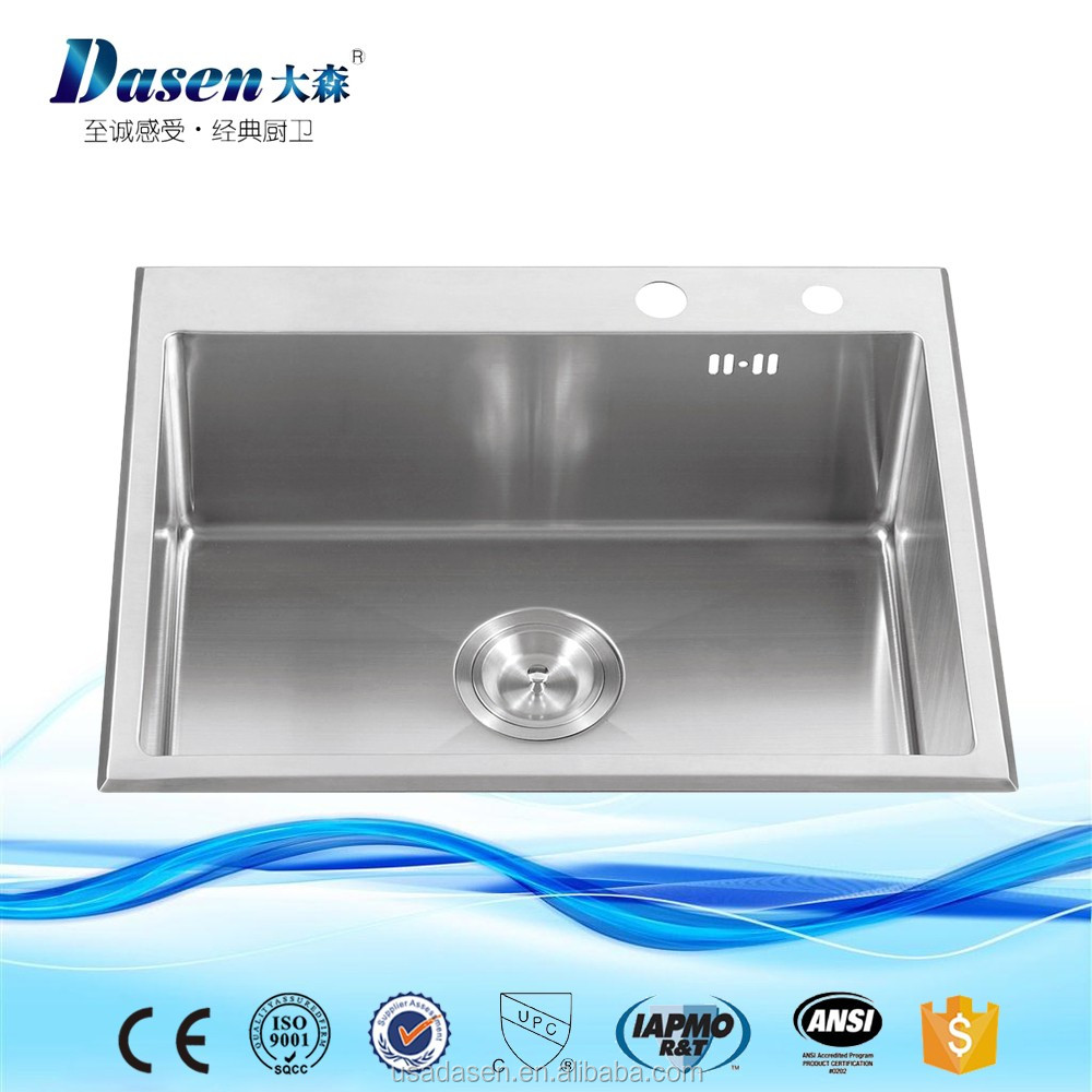 DS 7345 China Heat Sink Guangzhou CUPC double bowls stainless steel kitchen granite sink