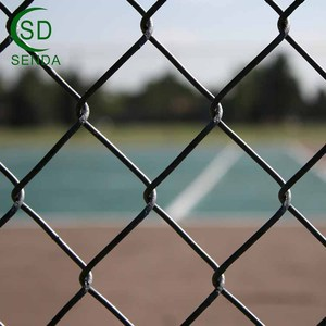 Hot Dip Galvanized Chain Link Fence With Top Barbed Wire
