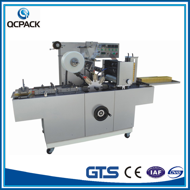 DVD Cellophane wrapping machine For Double Boxes Side By Side