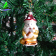 Merry Christmas Tree Glass Hanging Decoration Supplies Festival Party Home New Year Decoration Stock