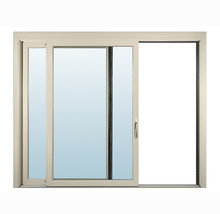 Anodized champagne color aluminum sliding window