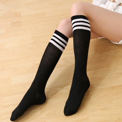 ZH1276F Candy Color Women Extra Long Boot Socks Over Knee Thigh High School Girl Stocking
