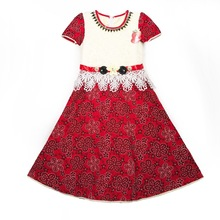 8100 Red lovely Attractive price new type ely lace baby kids flower girl dress for wedding
