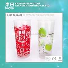 Lovely pattern printing heat transfer film transparent for plastic cups