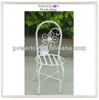 New wrought iron planter flower pot holders with chair design