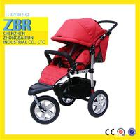 New sit and lay childrens baby buggy trolley baby stroller 2015 rubber wheel baby carriage
