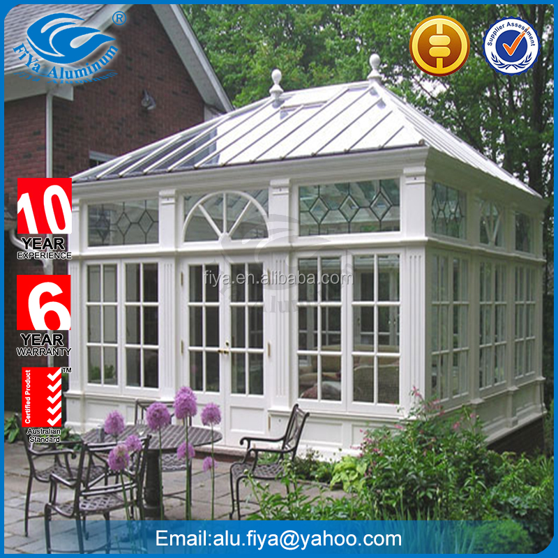 Thermal break aluminium frame glass sunroom for American market