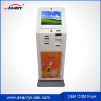 Bill Payment Wall Mounted Kiosk With Webcam, Finger Scanner