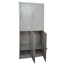 New designed metal closet wardrobe with lock