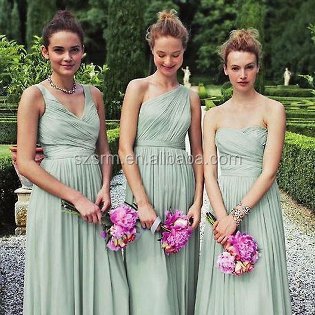Bridesmaids In Elegant Mint Green Bridesmaid Dresses Long Wedding Party Dress N24