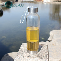 500ml heat resistant glass tea bottle with tea strainer YH665