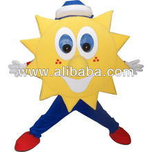 Custom Made Yellow Sun Mascot Costume