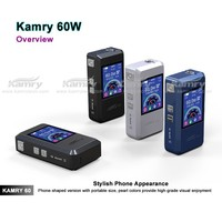 2015 new arrvial box mod kamry 60w box mod vaporizers wholesale price