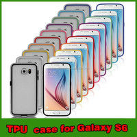 New Style TPU Bumper Case for Samsung Galaxy S6, TPU Frame Cover For S6, TPU Bumper For Mobile Phones
