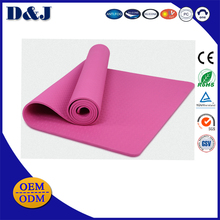 Wholesale sublimation white yoga mat with carrier