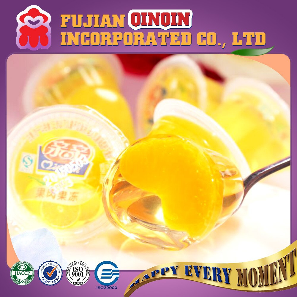 2015 new products natural flavored 40g mini real fruit cup jelly balls