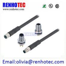 M5 3P 4P IEC 61076-2-105 cable connector