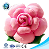 Wholesale valentine gift cute soft toy pink rose plush flower shaped pillow