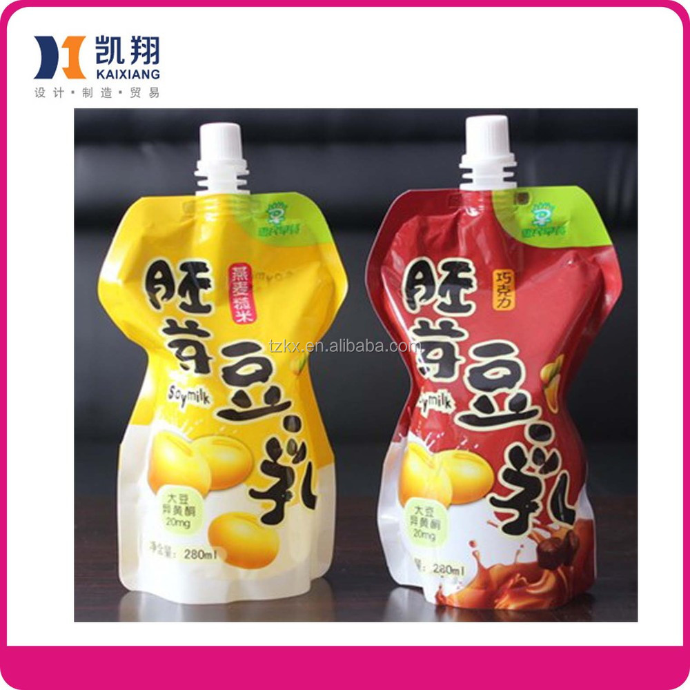 Safety food grade inflatable recycle nylon spout pouch frozen food pouch