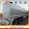 tank semi trailer type 3 axle oil trailer made of steel or aluminum