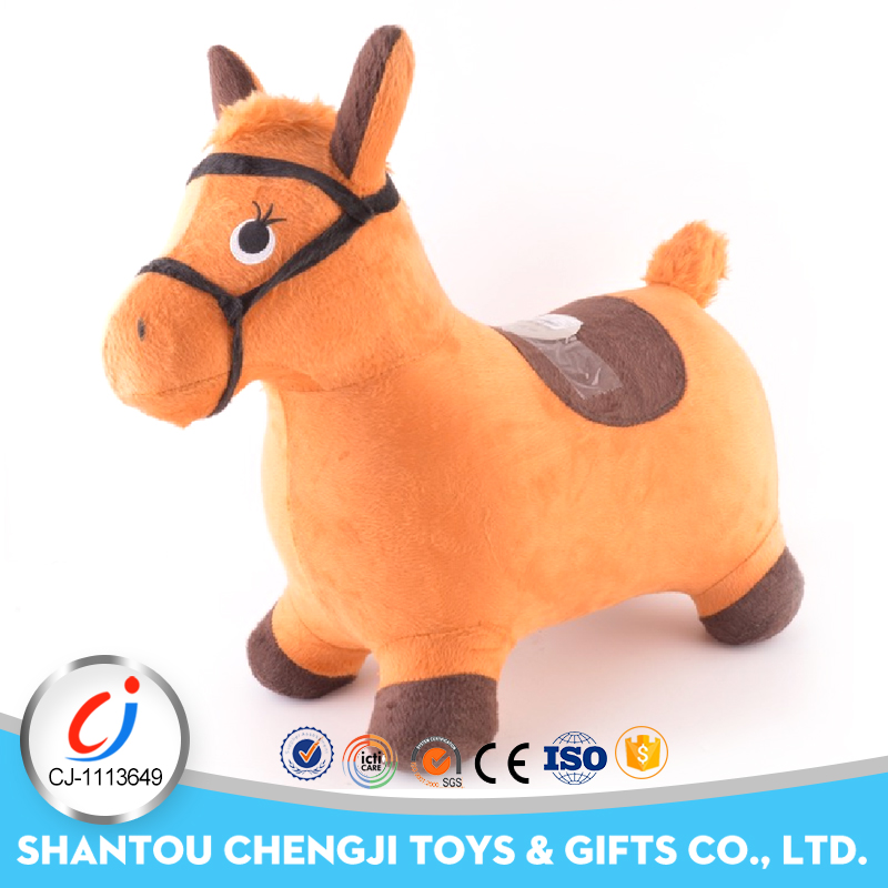 OEM high quality cute stuffed animal standing horse plush
