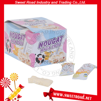 Milk Candy with Peanut Nougat Milk Candy