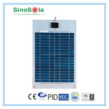Flexible Solar Panel 20W, A-grade High Efficiency Monocrystalline/Polycrystalline Cells
