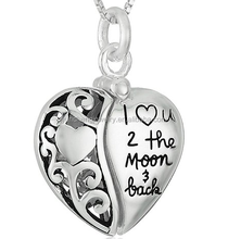 YCP7212 Pure silver handmade antique heart pendant