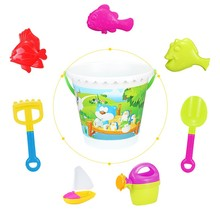 sandpit and water table summer show plastic cool sand baby toy with shovel mold