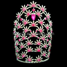 Big Flower Pink pageant crown