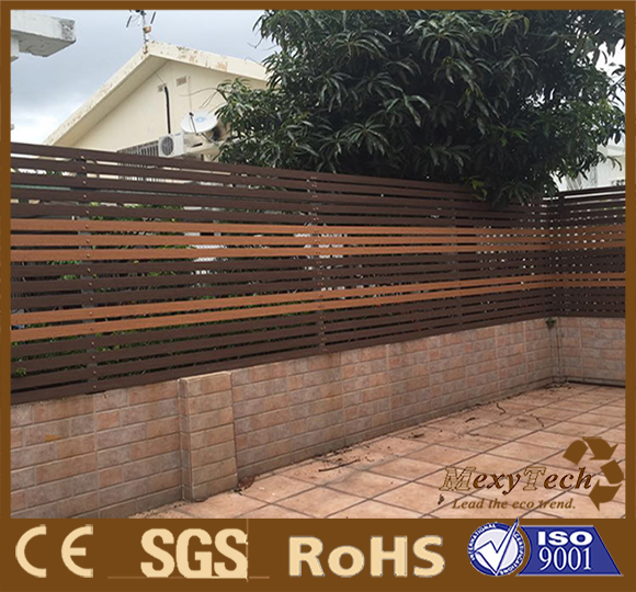 foshan customized design wpc plastic wooden panels ,stockade wall fencing & edging