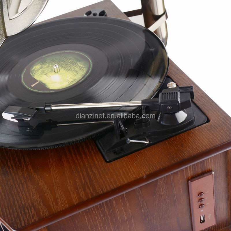 2016 Hot Sale Elegant Style Design Gramophone with USB, Bluetooth, AM/FM radio