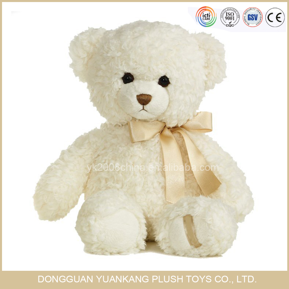 Wholesale Valentines Day Gifts 10 Inch I Love You Cream White Teddy Bear Plush Toys